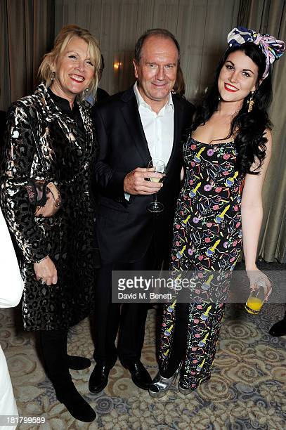 Louise Fennell William Boyd and Coco Fennell attend the launch of Solo the new James Bond novel written by William Boyd at The Dorchester on...