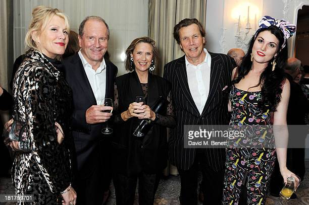 Louise Fennell William Boyd wife Susan Boyd Theo Fennell and Coco Fennell attend the launch of Solo the new James Bond novel written by William Boyd...