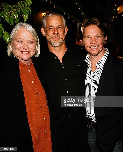 Louise Fletcher Steven Wolfe and Jack Noseworthy pose at the Press Screening in honor of the DVD premiere of A Dennis The Menace Christmas the first...