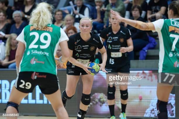 Louise Fons of Copenhagen Handball in action during the Danish HTH Go Ligaen match between Copenhagen Handball and Silkeborg Voel in...