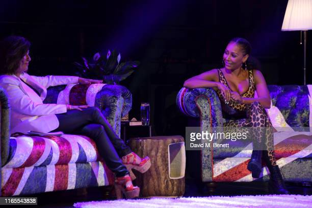 Louise Gannon and Mel B speak on stage during A Brutally Honest Evening With Mel B in support of Women's Aid at The Savoy Theatre on September 1 2019...