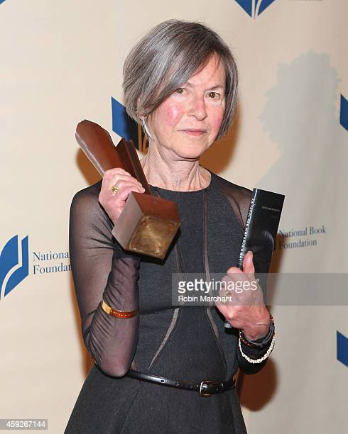 Louise Gluck attends 2014 National Book Awards on November 19, 2014 in New York City.