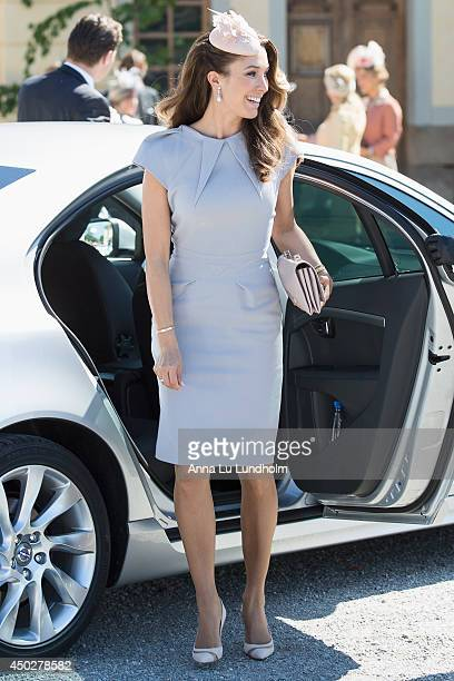 Louise Gottlieb attending the Royal Christening for Princess Leonore at Drottningholm Palace Chapel on June 8 2014 in Stockholm Sweden