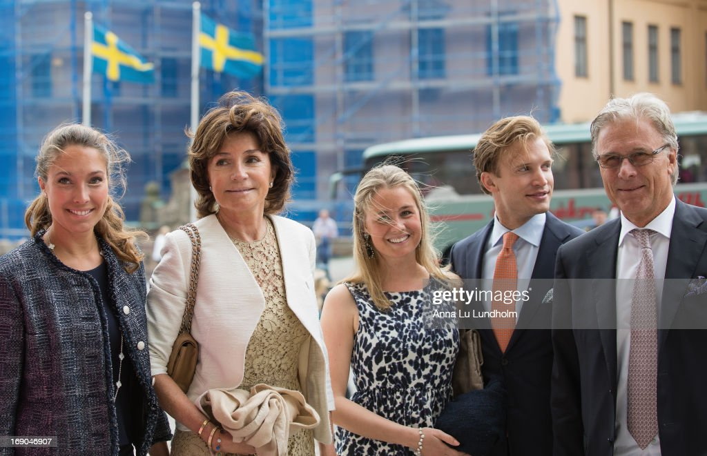 Louise Gottlieb, Carola Gottlieb, Philip Gottlieb and Fredrik Gottlieb visit the wedding preparations for H.K.H. Princess Madeleine and Mr. Christopher O'Niell on May 19, 2013 in Stockholm, Sweden.