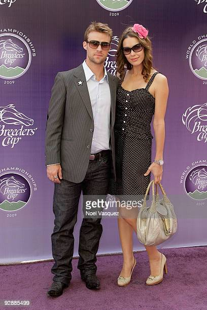 Louise Griffiths and Jesse Spencer attend the Breeders' Cup World Thoroughbred Championships at Santa Anita Park on November 7 2009 in Los Angeles...