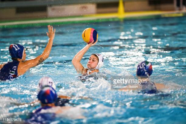 Louise Guillet of France during the Women's International Match Water Polo match between France and Italy on February 12 2019 in Mulhouse France
