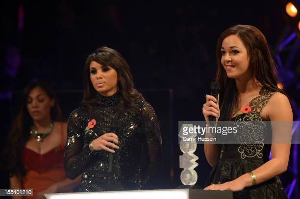 Louise Hazel and Katarina JohnsonThompson present the Best RB/Soul award at the 2012 MOBO awards at Echo Arena on November 3 2012 in Liverpool England