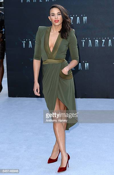 Louise Hazel attends the european premiere of 'The Legend Of Tarzan' at Odeon Leicester Square on July 5 2016 in London England