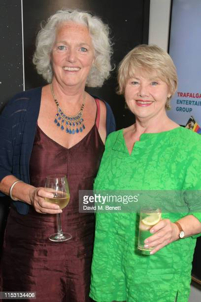 Louise Jamieson and Annette Badland attend the press night performance of Dark Sublime at Trafalgar Studios on July 1 2019 in London England