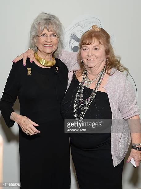 Louise Kerz Hirschfeld and Nina Hirschfeld West attend The Hirschfeld Century The Art of Al Hirschfeld Reception at NewYork Historical Society on May...