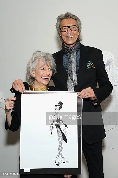 Louise Kerz Hirschfeld and Tommy Tune attend The Hirschfeld Century The Art of Al Hirschfeld Reception at NewYork Historical Society on May 20 2015...