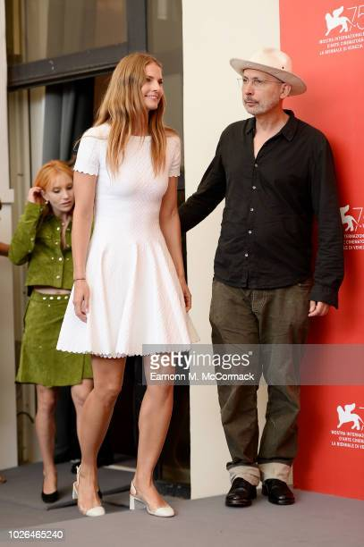Louise Kugelberg and Benoit Delhomme attend 'At Eternity's Gate' photocall during the 75th Venice Film Festival at Sala Casino on September 3 2018 in...