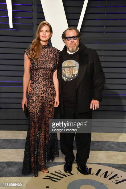 Louise Kugelberg and Julian Schnabel attend the 2019 Vanity Fair Oscar Party hosted by Radhika Jones at Wallis Annenberg Center for the Performing...