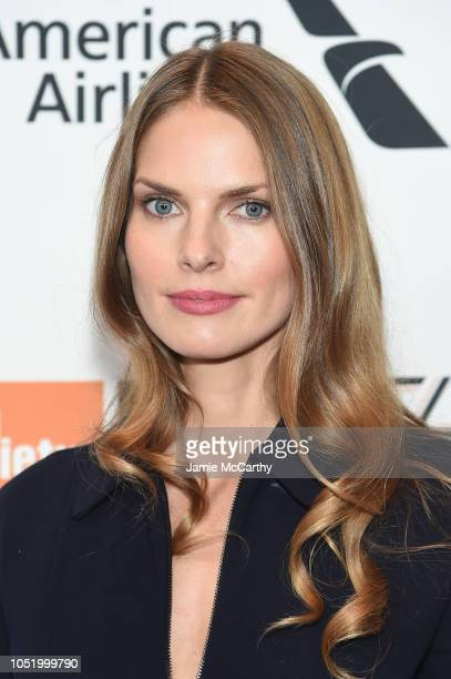 Louise Kugelberg attends the At Eternity's Gate premiere during the 56th New York Film Festival at Alice Tully Hall Lincoln Center on October 12 2018...