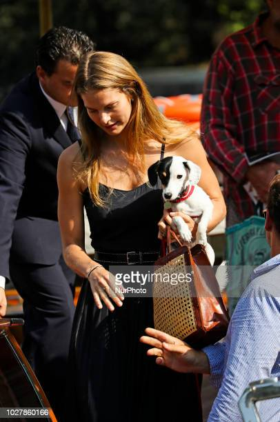 Louise Kugelberg is seen during the 75th Venice Film Festival on September 6 2018 in Venice Italy