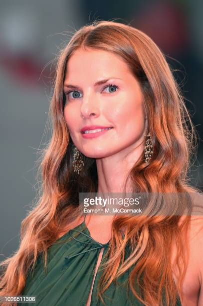 Louise Kugelberg walks the red carpet ahead of the 'At Eternity's Gate' screening during the 75th Venice Film Festival at Sala Grande on September 3...