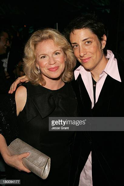 Louise Lasser with Carolyn Strauss of HBO during The 57th Annual Emmy Awards HBO After Party in Los Angeles California United States