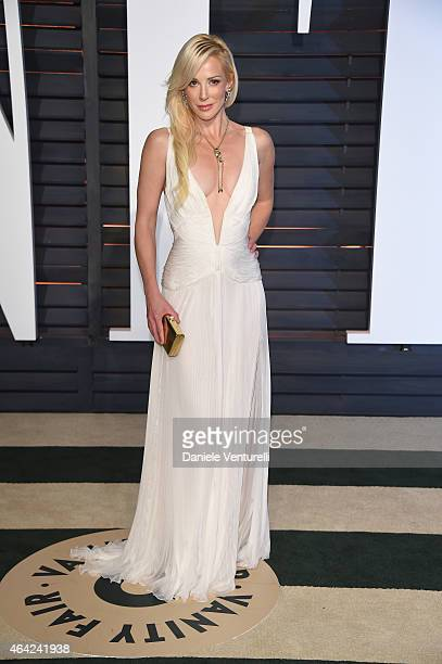 Louise Linton attends 2015 Vanity Fair Oscar Party Hosted By Graydon Carter at Wallis Annenberg Center for the Performing Arts on February 22, 2015...