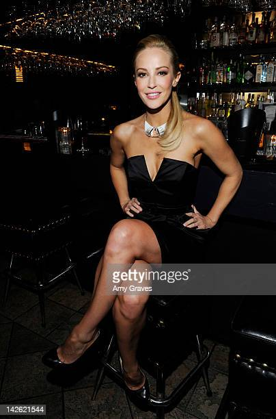 Louise Linton attends the 'She Wants Me' Los Angeles premiere after party at Bugatta on April 5 2012 in Los Angeles California
