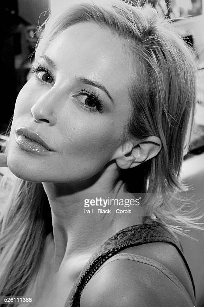 Louise Linton shows off her make up prior to walking the runway for the Fashion Show portion of the Dressed to Kilt Charity Event The event was held...