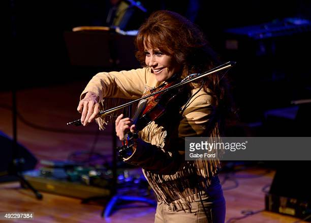Louise Mandrell performs as Calamity Jane onstage during the IEBA 2015 Conference Day 1 on October 11 2015 in Nashville Tennessee