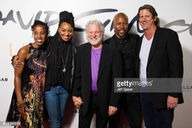 Louise Marshall Lucita Jules Chuck Leavell Bryan Chambers and Steve Di Stanislao arrive for the David Gilmour 'Live At Pompeii' premiere screening at...