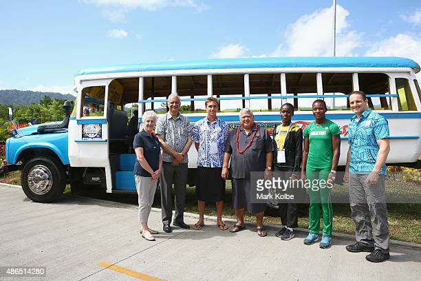 Louise Martin President of the Commonwealth Games Federation Kamalesh Sharma Commonwealth SecretaryGeneral Brandon Schuster of Samoa Tuilaepa Aiono...