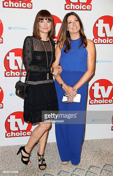 Louise Marwood and Katherine Dow Blyton arrive for the TV Choice Awards at The Dorchester on September 5 2016 in London England