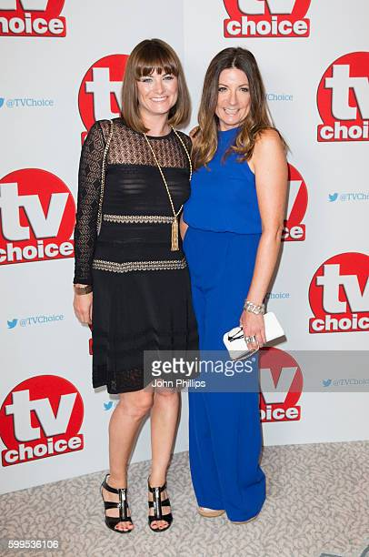 Louise Marwood and Katherine Dow Blyton arrive for the TV Choice Awards at The Dorchester Hotel on September 5 2016 in London England