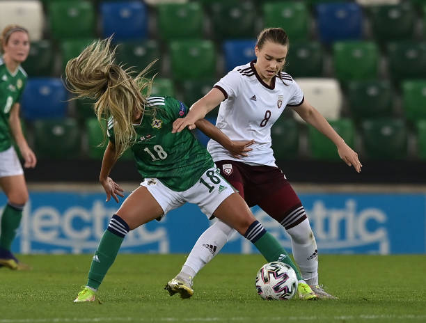 GBR: Northern Ireland v Latvia: Group D - FIFA Women's WorldCup 2023 Qualifier