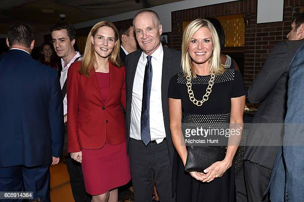 Louise Mensch Jack Abernathy and Martha MacCallum attend the CAA TV News Party 2016 at Hudson Bar on September 14 2016 in New York City