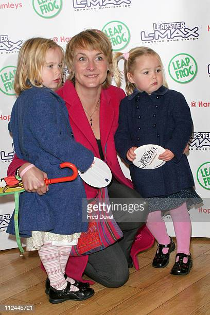 Louise Minchin and daughters during LeapFrog Toys Hosts an Exclusive Christmas Shopping Event to Benefit Children's Charity Hope at Hamleys Oxford...