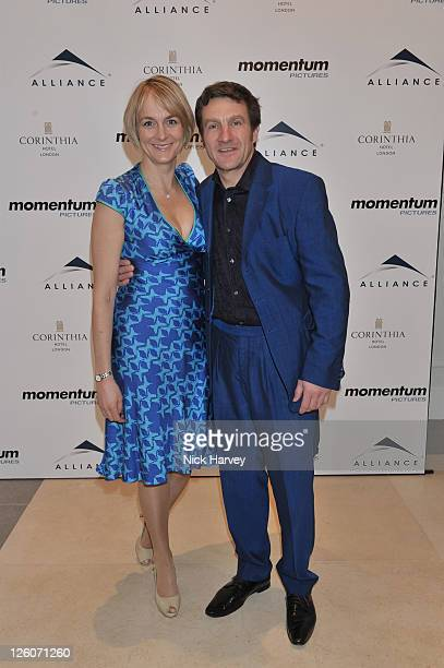 Louise Minchin and David Minchin attend the BAFTA nomination lunch hosted by Momentum Pictures at Corinthia Hotel London on February 12 2011 in...