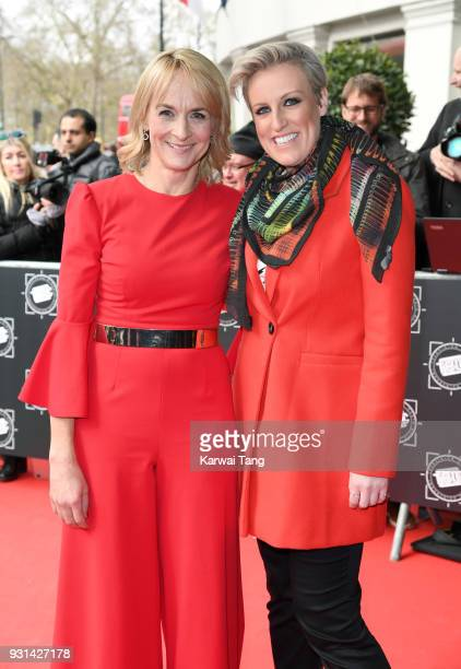 Louise Minchin and Stephanie McGovern attend the TRIC Awards 2018 held at the Grosvenor House Hotel on March 13 2018 in London England