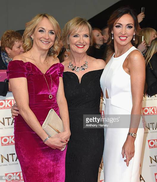 Louise Minchin Carol Kirkwood and Sally Nugent attends the National Television Awards on January 25 2017 in London United Kingdom