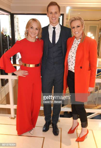 Louise Minchin Dan Walker and Steph McGovern attend the TRIC Awards 2018 held at The Grosvenor House Hotel on March 13 2018 in London England