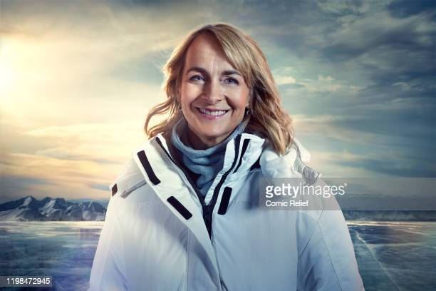 Louise Minchin poses for a promotional image for Sport Relief On Thin Ice for the celebrities preparing to cycle skate and trek 100 miles across Lake...