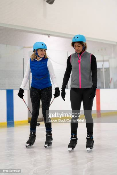 Louise Minchin trains with other celebs and Dr Zoe Willimas on February 7 2020 in London England The celebrities are training for Sport Relief On...