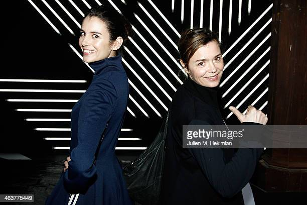 Louise Monot and Caroline Proust attend the Y3 Menswear Fall/Winter 20142015 Show as part of Paris Fashion Week on January 19 2014 in Paris France
