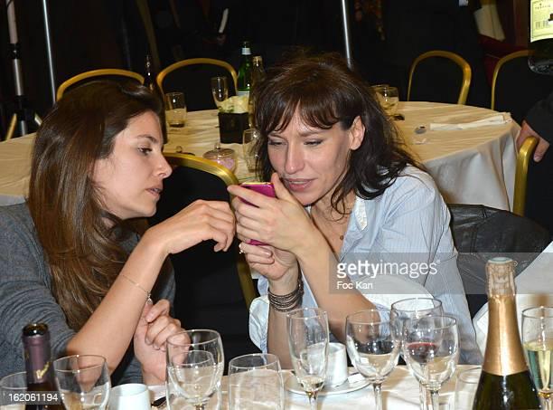 Louise Monot and Julie Debazac attend the 18 eme Edition des Journees du Livre et Du Vin 2013' - Jury Lunch at the Hotel Lutetia on February 18, 2013...