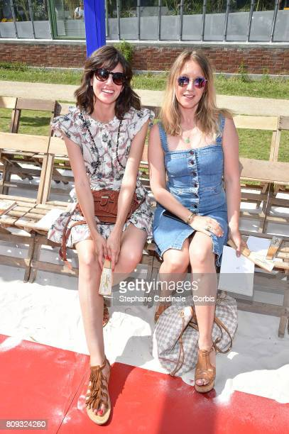 Louise Monot and Ludivine Sagnier attend the Bonpoint Haute Couture Fall/Winter 20172018 show as part of Haute Couture Paris Fashion Week on July 5...