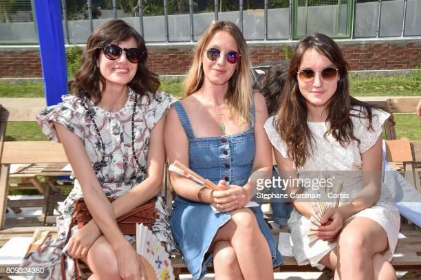 Louise Monot, Ludivine Sagnier and Anais Demoustier attend the Bonpoint Haute Couture Fall/Winter 2017-2018 show as part of Haute Couture Paris...