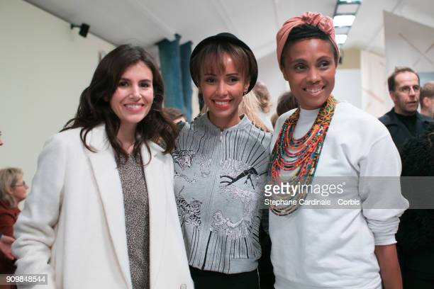Louise Monot Sonia Rolland and Imany attends the Bonpoint Winter 2018 show as part of Paris Fashion Week January 24 2018 in Paris France