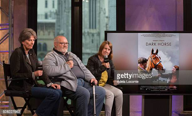 """Louise Osmond, Brian Vokes, and Jan Vokes discuss """"Dark Horse"""" at AOL Studios In New York on May 4, 2016 in New York City."""
