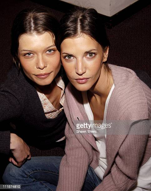 Louise Pederson and Diana Dondoe during Olympus Fashion Week Fall 2005 Matthew Williamson Front Row and Backstage at Massonic Hall in New York City...