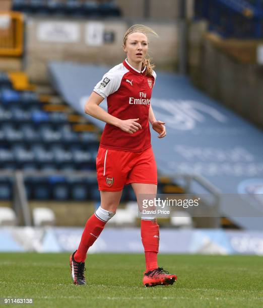Louise Quinn of the Arsenal Women during the match between Reading FC Women and Arsenal Women at Adams Park on January 28 2018 in High Wycombe England