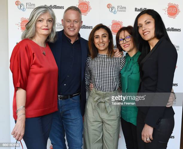Louise Rainbow Jason Gilkison Anita Rani Vicky Gill and Vinnie Shergill attend the BFI Radio Times TV Festival at the BFI Southbank on April 8 2017...