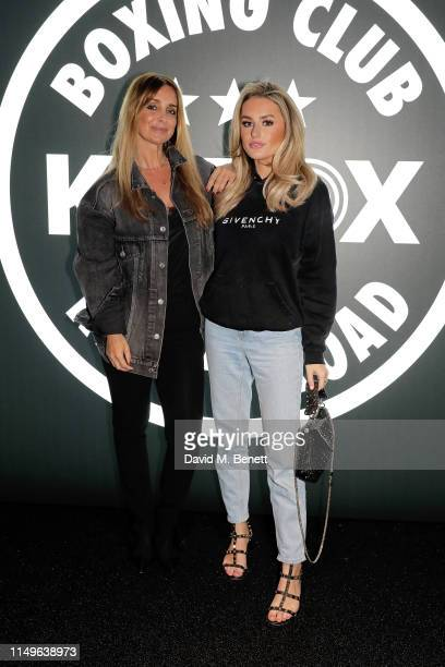 Louise Redknapp and Amber Davies attend KOBOX New Flagship studio launch party on King's Road on May 16 2019 in London England
