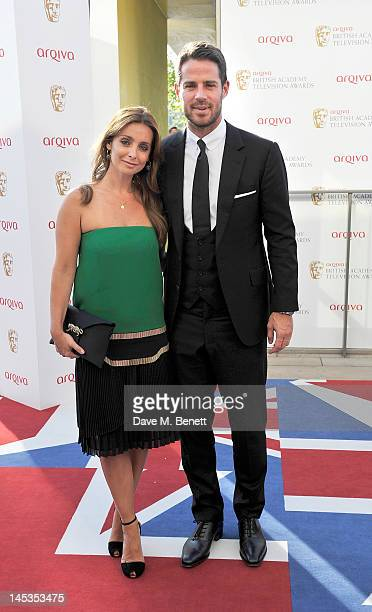 Louise Redknapp and Jamie Redknapp arrive at the Arqiva British Academy Television Awards 2012 at Royal Festival Hall on May 27 2012 in London England