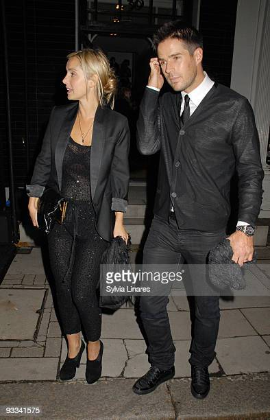 Louise Redknapp and Jamie Redknapp attend Stella McCartney Boutique Christmas Lights switch on November 23 2009 in London England